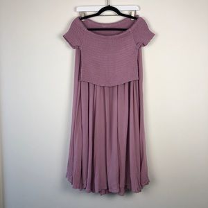Free People peasant skirt and top size 10
